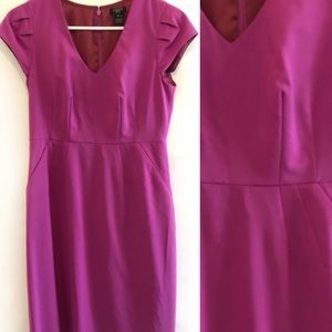 J. Crew Pink Stretchy Cap Sleeve Dress in 2P